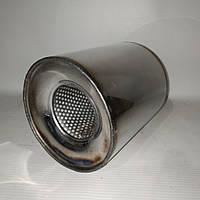 Пламегаситель коллекторный 115/100 , вставка вместо катализатора в коллектор 115/100 (диаметр/высота) нержавейка