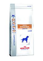 Корм при нарушениях пищеварения для собак-  Royal Canin GASTRO INTESTINAL LOW FAT CANINE,12 кг