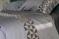 Белье сатиновое постельное  с вышивкой, фото 1