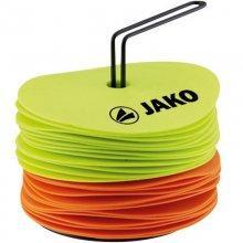 Набор плоских кругов-маркеров Jako Marking Discs 2128-03 цвет: оранжевый/желтый