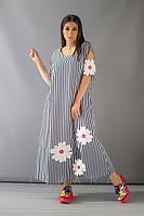 Платье большого размера Likara / стрейч-котон / Украина 32-855, фото 1