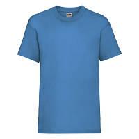 Стильная детская футболка ультрамариновая (ярко-голубая)