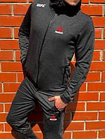 Легкий мужской спортивный костюм на весну/осень рибок (Reebok UFC) реплика, фото 1