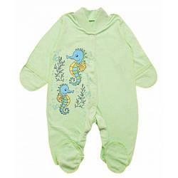 Слип человечек для новорожденного в расцветках для мальчика или девочки
