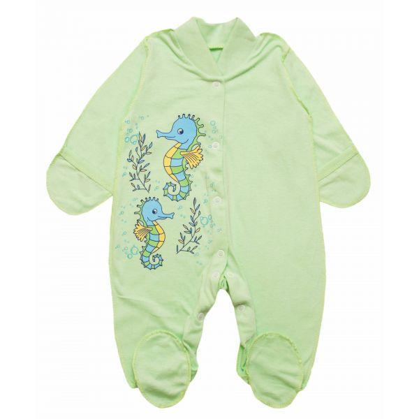 Слип человечек для новорожденного в расцветках для мальчика или девочки, фото 1