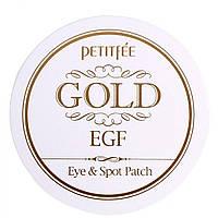 Гідрогелеві патчі для очей з золотом і EGF - Petitfee Premium Gold & EGF Eye Patch
