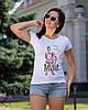 "Модная футболка с рисунком ""Mama of Drama"", фото 4"
