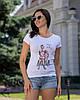"Модная футболка с рисунком ""Mama of Drama"", фото 5"