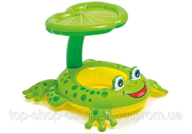 Надувной круг с трусиками Intex 56584NP Froggy Friends Shaded Baby Float