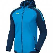 Куртка с капюшоном Jako Hoodie Jacket Champ 6817-89 детская цвет: голубой/темно-синий