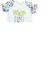 Детский летний костюмчик, футболка, шортики, хлопок (кулир), ТМ Виктория, р. 74, 80, 86, 92, Украина