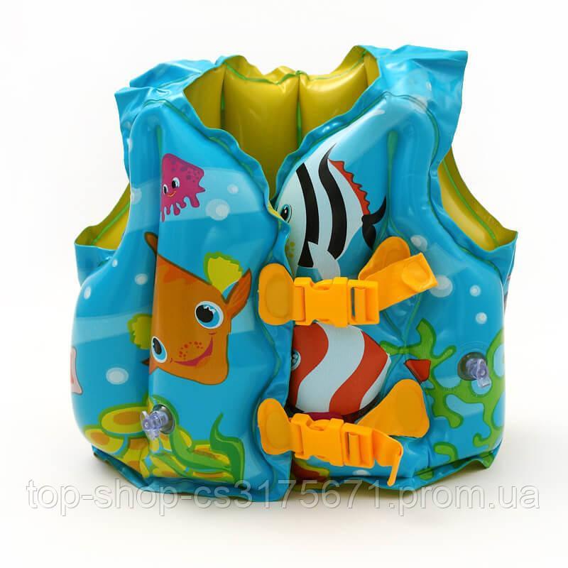 Жилет надувной 59661NP плавательный Tropical Buddies Swim Vest Intex