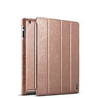 Чехол кожаный для iPad 2/3/4 gold leather