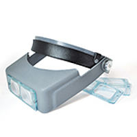 Лупа бинокулярная MG81007В налобная (линза стекло) 1,5Х 2Х 2,5Х 3,5Х