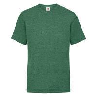 Модная детская однотонная летняя футболка цвет зеленый меланж