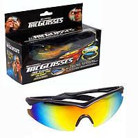 Солнцезащитные тактические антибликовые очки anti glare Bell Howell Tac Glasses для водителей, фото 1