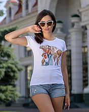 """Женская футболка с принтом """"Burger"""""""