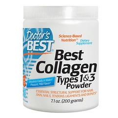 Коллаген 1 и 3 типа Best Collagen Types 1&3 (200 г) Doctor's Best