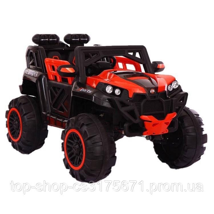 Детский электромобиль GRIZZLY WS896  4*4  цвет красный с черным
