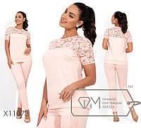 Брючный женский костюм одежда большого размера Размеры: 48, 50, 52, 54