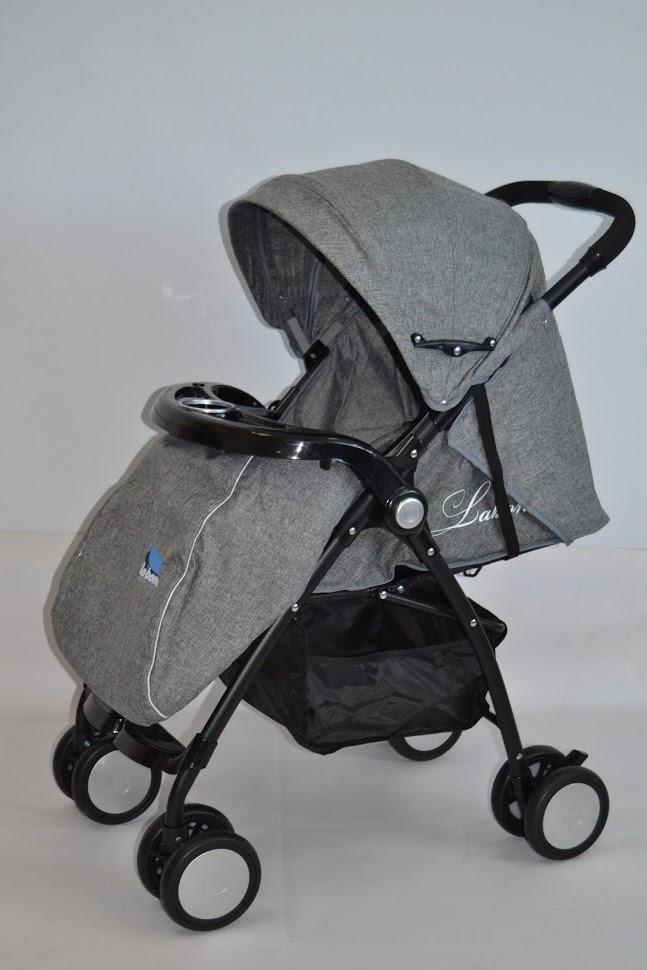 Коляска прогулочная labona FK8111AB grey серый 6 кг музыкальная панель (коляска-книжка Лабона)