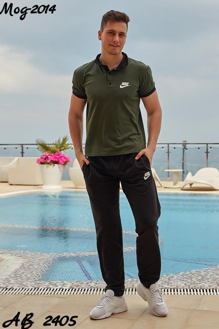Мужской спортивный костюм футболка+штаны спорт.