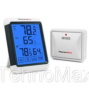 Термогигрометр ThermoPro TP65S (-20...+70°C; 10-99%; ±1°C; ±2%) с удалённым датчиком T° (до 60 метров)