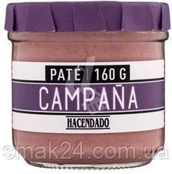 """Паштет без глютена из свиной печени """"Деревенский колокол""""  Pate Campana Hacendado 160г Испания"""