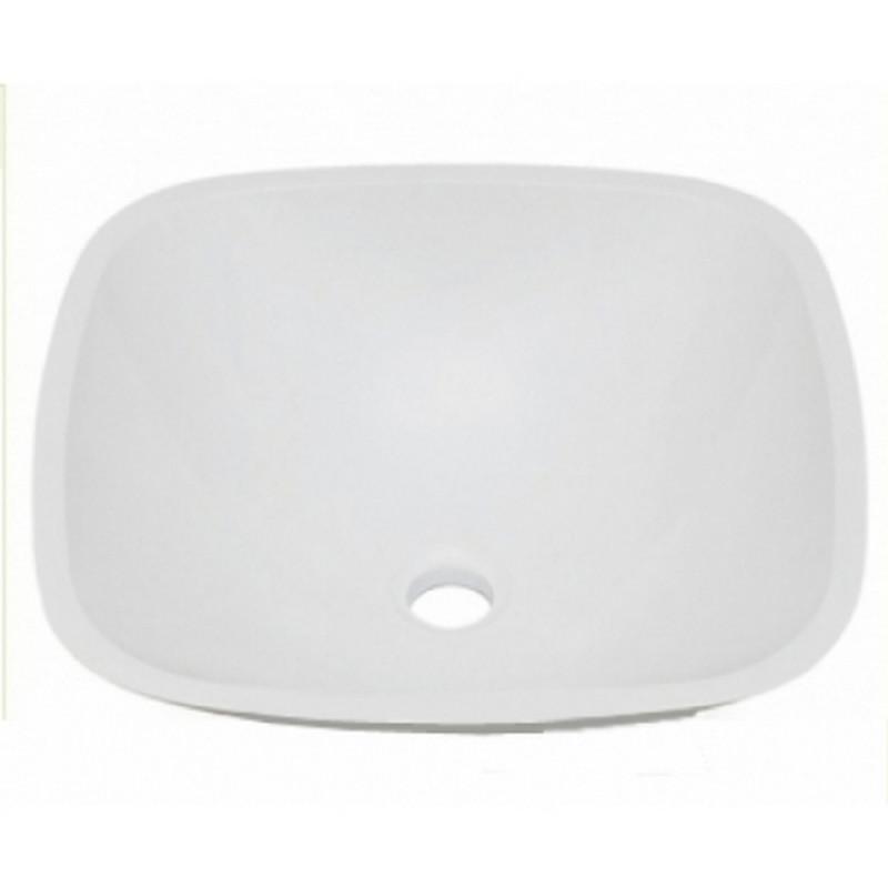 """Умывальник для ванной комнаты """"Полусфера"""" Fosto 42x42 белый"""