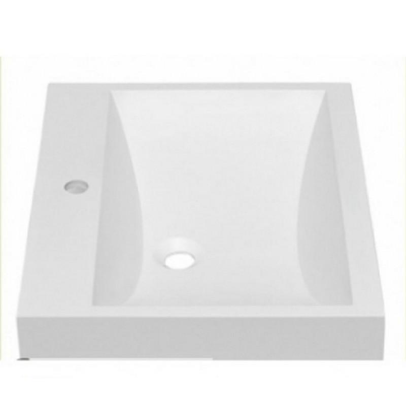 Умывальник в ванную комнату белый Fosto 59x49