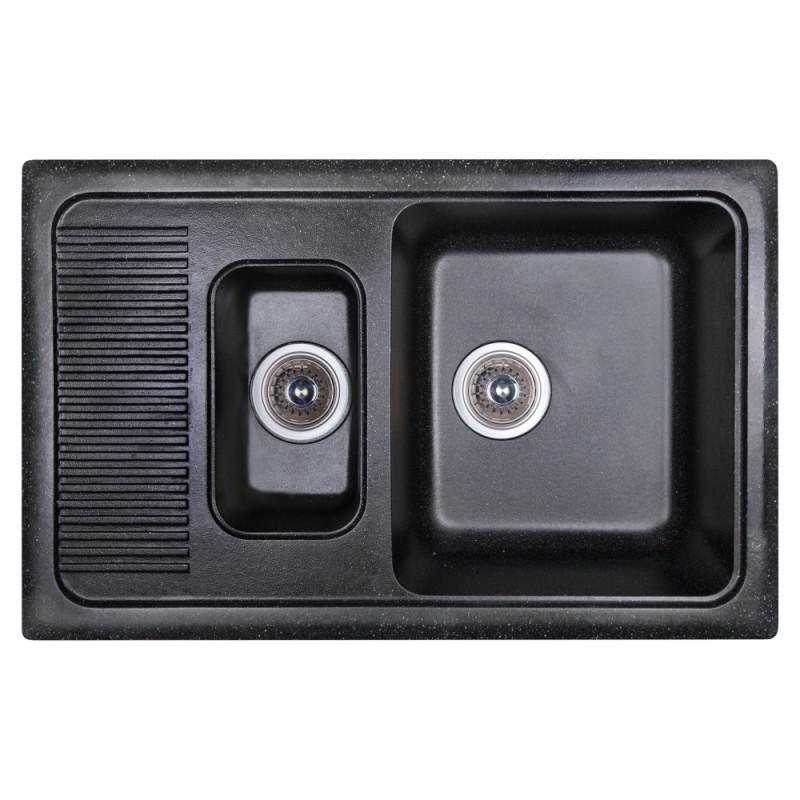 Кухонная мойка двойная Fosto770x490 SGA-420 черный