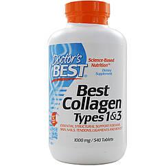 Коллаген 1 и 3 типа Best Collagen Types 1&3 (540 табл.) Doctor's Best