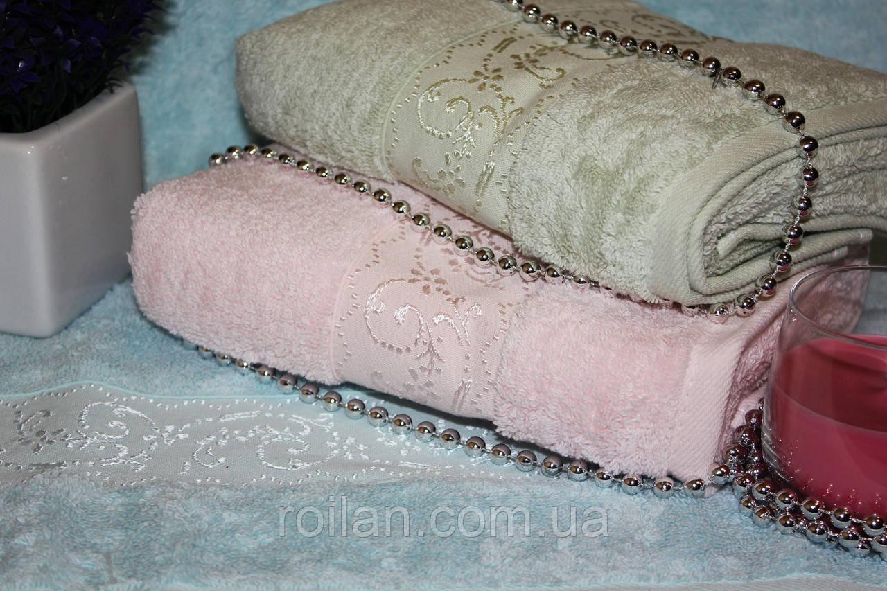 Метровые турецкие полотенца Завиточки Micro delux