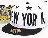 Кепка New York з прямим козирком для хлопчика. 52-54 см, фото 1