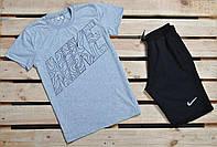 Стильный мужской комплект футболка и шорты трикотажные найк (Nike) реплика, фото 1