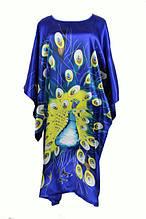 Шелковое  кимоно павлин
