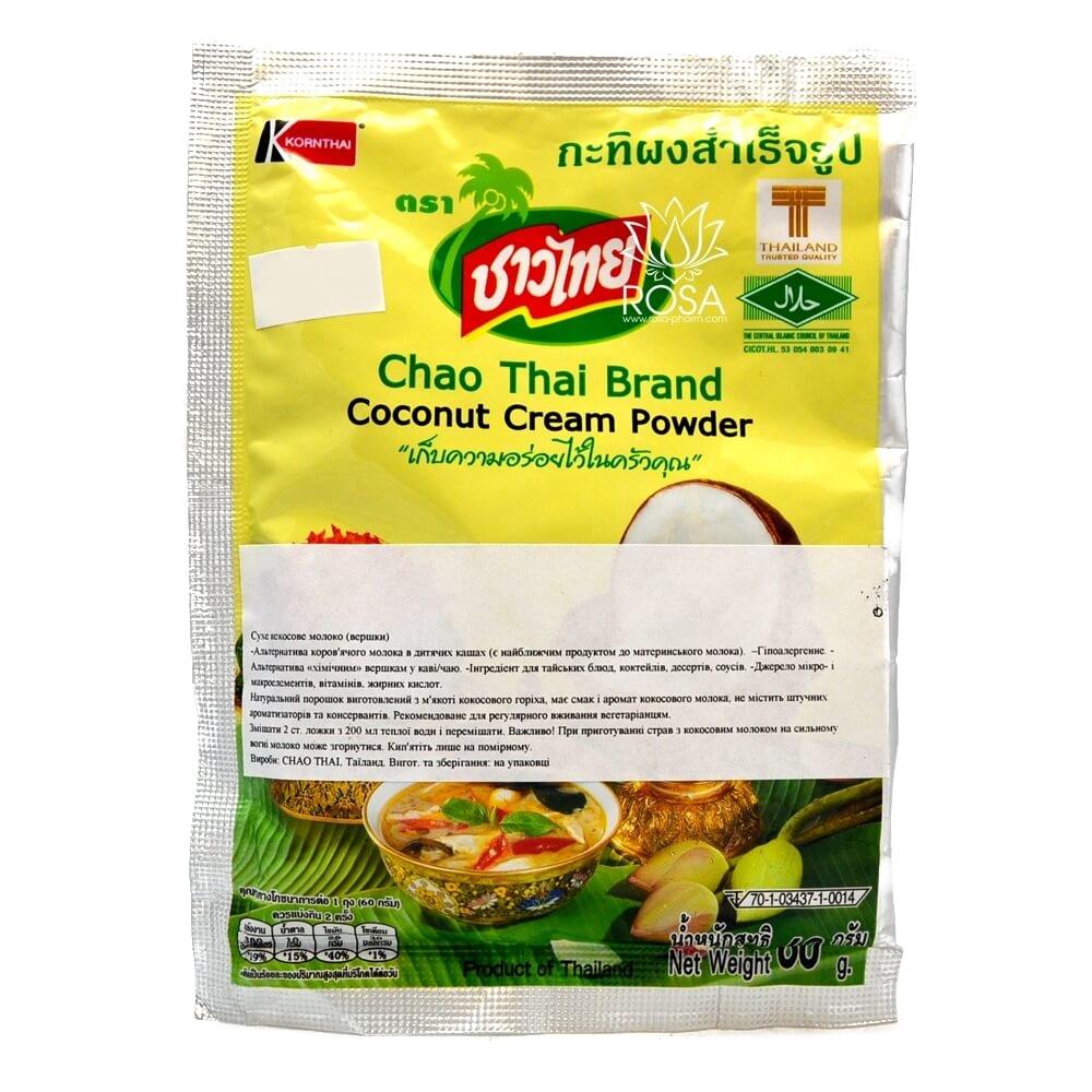 Сухое кокосовое молоко Chao Thai из Таиланда, 60 грамм