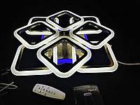 Люстра світлодіодна з квадратами 4+4 БРОНЗА, фото 1