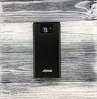 Powerbank аккумулятор Aspor A375, 10 000mAh, 2USB/2.4A Power Bank  Черный