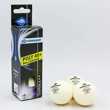 Набор мячей для настольного тенниса 3 штуки DONIC MT-608540 CHAMPION 3star