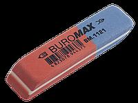 Ластик с абразивной частью красный 58*14*8mm Buromax BM.1121