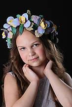 Венок Ирисы цветы из фоамирана