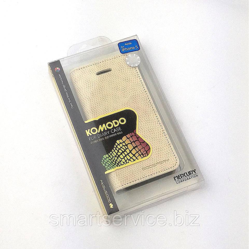 Чехол-книжка Mercury Goospery Komodo Flip Diary Case для Apple Iphone 5 5S