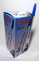 Ручка шариковая синяя WENXU, 50 шт