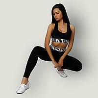 Комплект Calvin Klein MODERN топ лосины черный в стиле