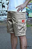 Бежевые Мужские шорты/бриджи/капри спортивные карго с боковыми карманами TNF (The North Face), копия, фото 1