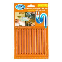 Палочки от засора Sani Sticks аромат апельсина (оранжевый)