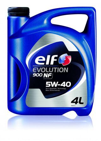 Моторное масло ELF 5W40 EVOLUTION 900 NF ( ACEA A3/B4 , API SL/CF, VW 502.00/505.00, MB 229.3) 4L синтетика
