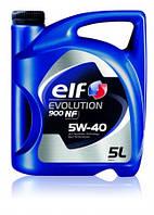 Моторное масло ELF 5W40 EVOLUTION 900 NF ( ACEA A3/B4 , API SL/CF, VW 502.00/505.00, MB 229.3) 5L синтетика
