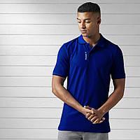 Мужская стильная футболка-поло с воротником рибок (Reebok) реплика, фото 1